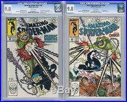 1988 Amazing Spider-Man 298 & 299 CGC 9.8 Venom Cameo