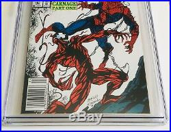 (1992) AMAZING SPIDERMAN #361 CGC 9.8 1st CARNAGE RARE NEWSSTAND EDITION COVER