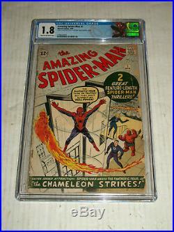 AMAZING SPIDER-MAN #1 (1963) CGC 1.8 1st App. J. Jonah Jameson/Orgin Retold