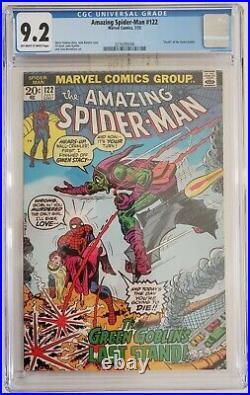 AMAZING SPIDER-MAN 122 CGC 9.2 2076093006 Death of Green Goblin