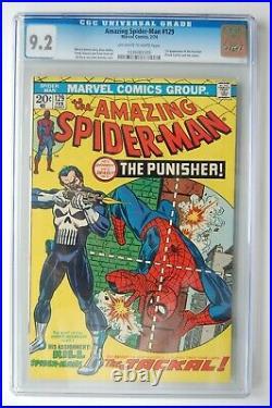 AMAZING SPIDER-MAN #129 CGC 9.2! OWithW 1st App. Punisher
