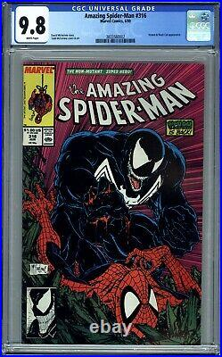 AMAZING SPIDER-MAN #316 (1989) CGC 9.8 NM/M 1st FULL VENOM COVER McFARLANE ART