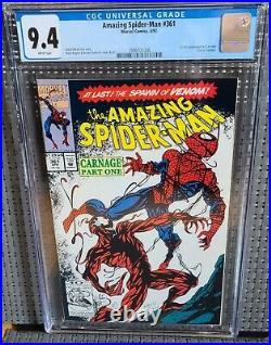 AMAZING SPIDER-MAN #361 CGC 9.4 (NM) WHITE Pages 1st Appear. Of Carnage