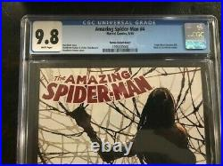 AMAZING SPIDER-MAN # 4 CGC 9.8 Ramos 110 Variant 1st Appearance SILK! Key