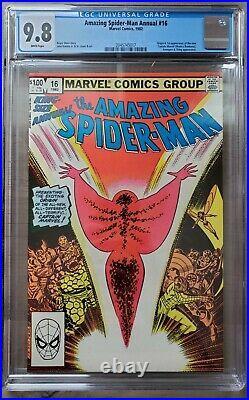 AMAZING SPIDER-MAN ANNUAL #16 CGC 9.8, New Captain Marvel Monica Rambeau