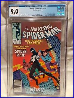 AMAZING SPIDERMAN #252 Newsstand CGC 9.0 VF/NM 1st Black Costume Venom