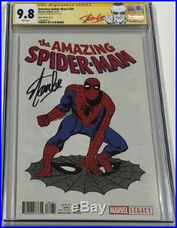 ASM Amazing Spiderman #789 Ditko T-Shirt Variant Signed by Stan Lee CGC 9.8 SS