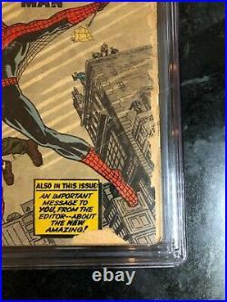 Amazing Fantasy #15 (1962) Cgc 1.5 O/w 1st Spider-man! Movie Opens Dec. 17