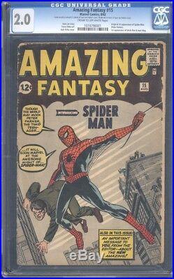 Amazing Fantasy 15 CGC 2.0 1st Spider-man Appearance Silver Marvel Key IGKC L@@K