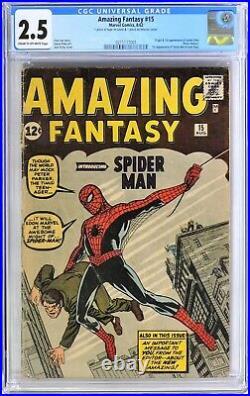 Amazing Fantasy #15 CGC 2.5 1st App Spider-Man FREE shipping USA Overnight