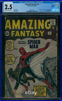 Amazing Fantasy 15 CGC 2.5 1st Spider-Man