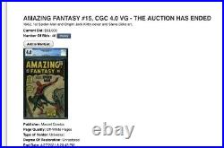 Amazing Fantasy 15 CGC 3.0 1st Spider-man Appearance 0233108001 (Older label)