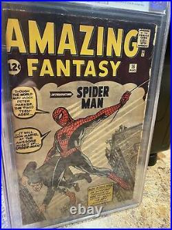 Amazing Fantasy #15 CGC 3.0 Stan Lee Signed AF15 1st Appearance of Spider-Man