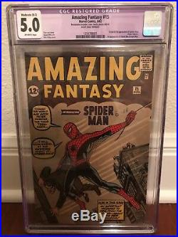 Amazing Fantasy #15 CGC 5.0 Origin and 1st appearance of Spider-Man
