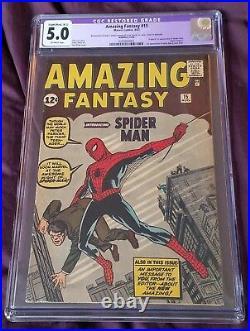 Amazing Fantasy #15 CGC 5 FINE GRADE (1962)