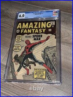 Amazing Fantasy 15 CGC 6.0 Marvel 1962 Holy Grail 1st Appearance of Spider-man