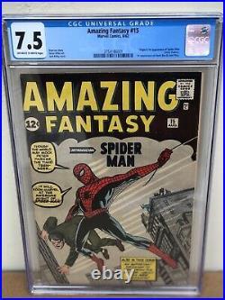 Amazing Fantasy 15 CGC 7.5 -7.0 8.0 8.5 cant Compare 1st Spider-man 3754186001