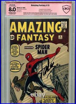Amazing Fantasy #15 Cbcs Graded 8.0 Verified Stan Lee Signature Not Cgc