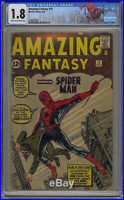 Amazing Fantasy #15 Cgc 1.8 1st Appearance Spider-man