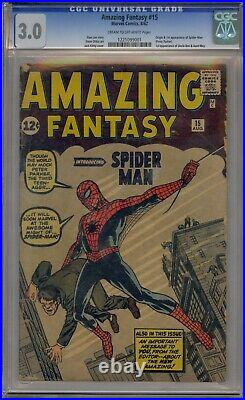 Amazing Fantasy #15 Cgc 3.0 1st Spider-man