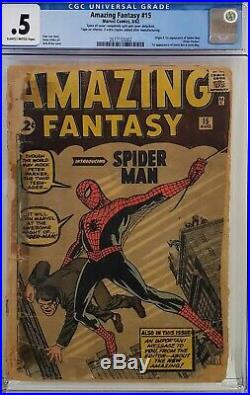 Amazing Fantasy #15 Cgc. 5 Complete Affordable Copy 1st Spider-man