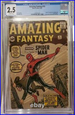 Amazing Fantasy #15 (Marvel, 1962) CGC 2.5 Off-white pages Holy Grail Read TEXT