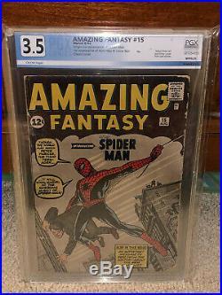 Amazing Fantasy #15 PGX 3.5 1962 1st Spider-Man! Free CGC sized mylar! K10 cm