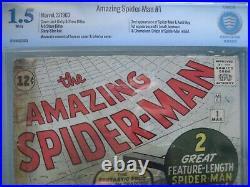 Amazing Spider-Man #1 CBCS 1.5 WP (like CGC) Marvel 1963 1st app Chameleon