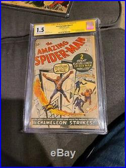 Amazing Spider-Man #1 CGC 1.5 Signature Series Signed by Stan Lee! A must have