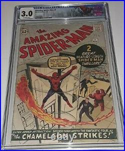 Amazing Spider-Man #1 CGC 3.0 OW Marvel 1963