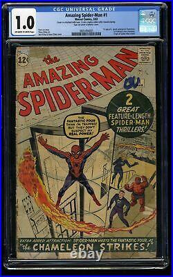 Amazing Spider-Man #1 CGC Fair 1.0 Off White to White Marvel Comics Spiderman