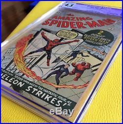 Amazing Spider-Man #1 CGC Restored 4.5 Silver Age March 1963 Key Grail Comic