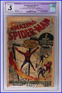 Amazing Spider-Man #1 Marvel 1963 CGC 0.5 -Restored- 1st Jameson & Chameleon