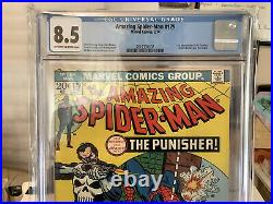 Amazing Spider-Man #129 (1974) CGC 8.5 VF+ 1st App Punisher OWithWhite Pages