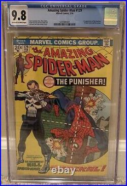 Amazing Spider-Man #129 1st Appearance The Punisher & Jackal CGC 9.8 Marvel 1974