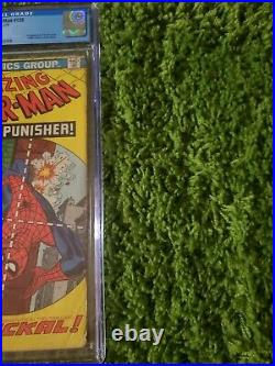 Amazing Spider-Man #129 CGC 2.0 1974 1st app. Punisher, Jackal. OW Pages