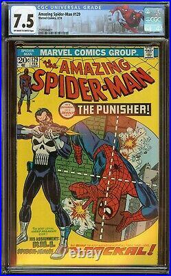 Amazing Spider-Man #129 CGC 7.5, 1st app. Of the Punisher 1974
