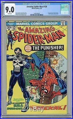Amazing Spider-Man #129 CGC 9.0 1974 1996389002 1st app. Punisher, Jackal