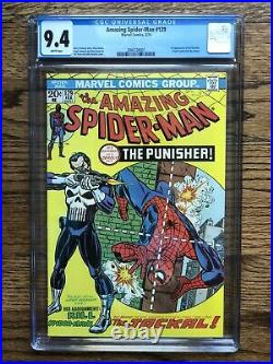 Amazing Spider-Man 129 CGC 9.4 1st app the Punisher White Pages Nice Centering