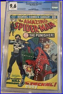 Amazing Spider-Man #129 CGC 9.6 WP 1st Appearance Punisher 1974 Grail Bronze Key