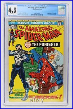 Amazing Spider-Man #129 Marvel 1974 CGC 4.5 1st Appearance of The Punisher