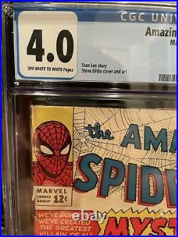 Amazing Spider-Man 13 Cgc 4.0 OW-w Graded First Appearance 1st App Mysterio