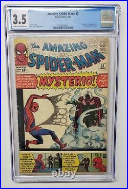 Amazing Spider-Man #13 Mysterio 1st Appearance and Origin 1964 CGC Graded 3.5
