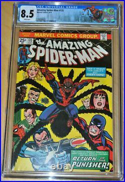 Amazing Spider-Man #135 CGC 8.5 (2nd App Punisher, Origin of the Tarantula) KEY