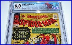 Amazing Spider-Man #14 CGC 6.0 1st Appearance Green Goblin Hulk Meeting Comic