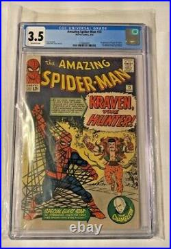 Amazing Spider-Man #15 CGC 3.5 VG 08/1964 1st Appear of Kraven NO OFFERS PLEASE