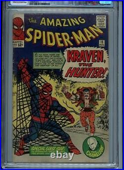 Amazing Spider-Man 15 CGC 4.5 VG+ 1st Kraven the Hunter