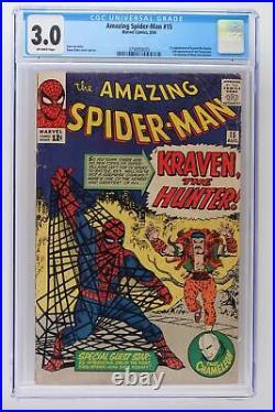 Amazing Spider-Man #15 Marvel 1964 CGC 3.0 1st App of Kraven the Hunter