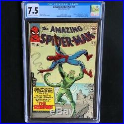 Amazing Spider-Man #20 CGC 7.5 OW-W 1st App of Scorpion! Marvel 1965