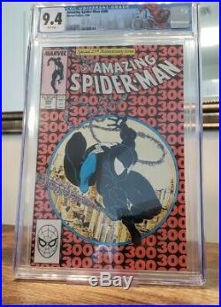 Amazing Spider-Man #300 CGC 9.4 White Pages Origin 1st Venom McFarlane Key